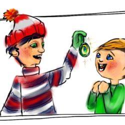 gift cartoon